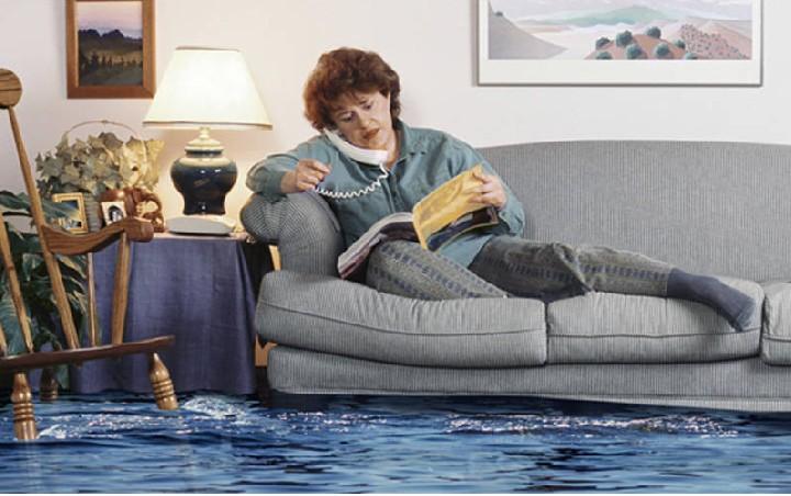 если вы затопили соседей в новом доме