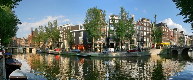 Amsterdam city panoramic view. Rostislav Glinsky Depositphotos