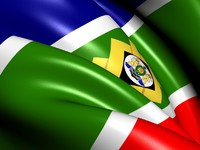 Flag of Johannesburg, South Africa. Фото  yuiyui - Depositphotos