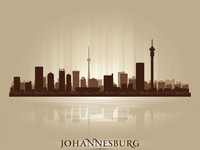 Johannesburg, South Africa city skyline silhouette. Фото Yurkaimmortal -Depositphotos