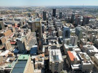 Johannesburg city center from the top of the building Carlton. Фото g.spencer - Depositphotos