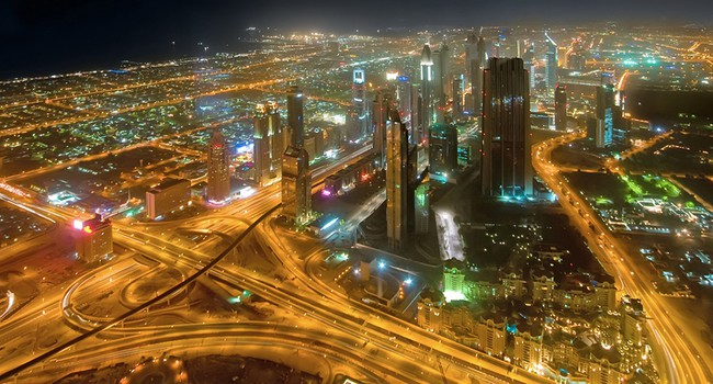 ОАЭ. Дубай. Panorama of down town Dubai city - UAE. Фото Elnur Amikishiyev - Depositphotos