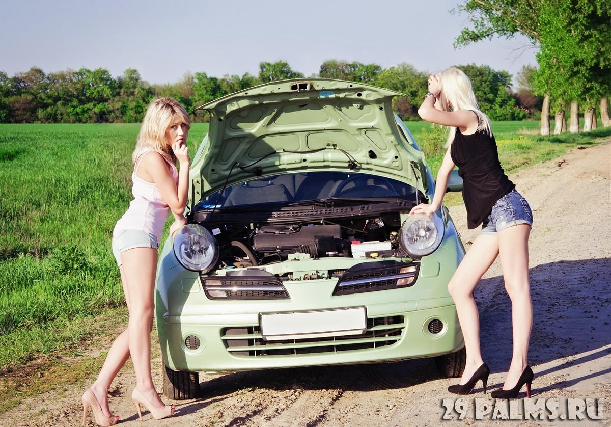 Две в машине блондинки фото 461-725