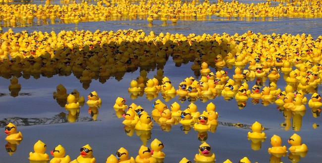 Американский художник Крейг Трейси rubber_duck_sea_by_whispering_hills