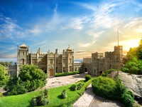 Palace of russian emperor Alexander III in Massandra (near Yalta). Built in 1881-1902. Crimea. Фото vlad_star - Depositphotos