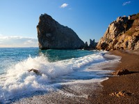 Крым. Rock Diva. Simeiz. Crimea. Ukraine. Black Sea. Фото Titov_s - Depositphotos
