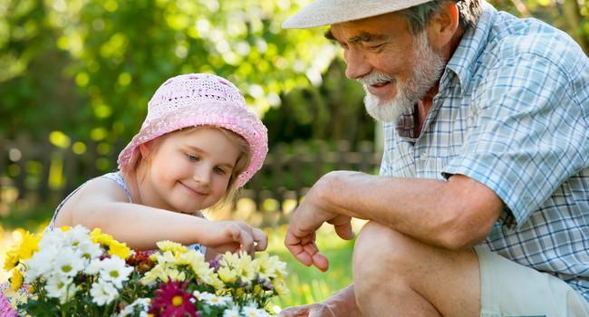 Дед с внучкой фото