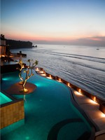 Блог Павла Аксенова. Индонезия. О.Бали. Anantara Bali Uluwatu Resort & Spa. Pool Sunset