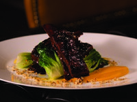 Jumeirah Emirates Towers - The Rib Room - Slow Braised Veal Short Ribs_ Sweet and Sour Glace_