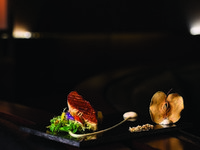 Jumeirah Emirates Towers - The Rib Room - Pan Seared Foie-gras Escalope_ Fig Samosa and Green Apple Puree