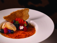 Jumeirah Emirates Towers - The Rib Room - Vanilla Creme_ Brulee_ Coconut Tuilles and Madeleines