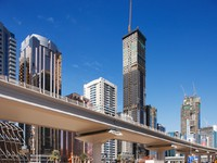 ОАЭ. Дубаи. Tall towers  Sheik Zayed Road. Фто Sophie_James - Depositphotos