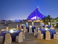 Блог Павла Аксенова. ОАЭ. Дубай. Jumeirah Beach Hotel - Executive Pool Terrace set up