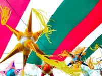 Мексика. Xcaret. Mexican colorful pinata in mexico with flag background. Фото lunamarina - Depositphotos