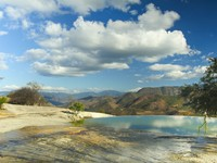 Мексика. The unique and beautiful landscape of hierve el agua in oaxaca state, mexico. Фото dubassy - Depositphotos
