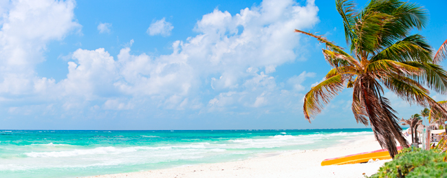 Мексика. Perfect Caribbean beach in Tulum Mexico. Фото shalamov - Depositphotos