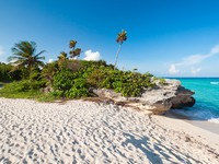 Мексика. Beach of the Caribbean Sea in Mexico. Фото Mustang_79 - Depositphotos