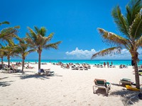 Мексика. Idyllic beach at the Caribbean sea. Фото Mustang_79 - Depositphotos