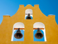 Мексика. Typical belfry in Campeche (Mexico). Фото Natividad Castillo Gonzalez - Depositphotos