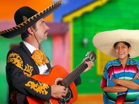 Мексика. Mexican mariachi charro man and poncho Mexico girl. Фото TONO BALAGUER SL- Depositphotos