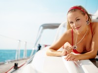 Girl on a yacht. Фото Dmitri Mihhailov - Depositphotos