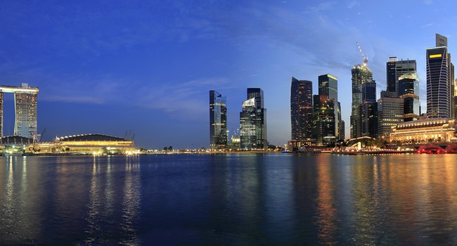 Блог Павла Аксенова. Singapore Cityscape from the Esplanade Panorama. Фото Thye Gn - Depositphotos