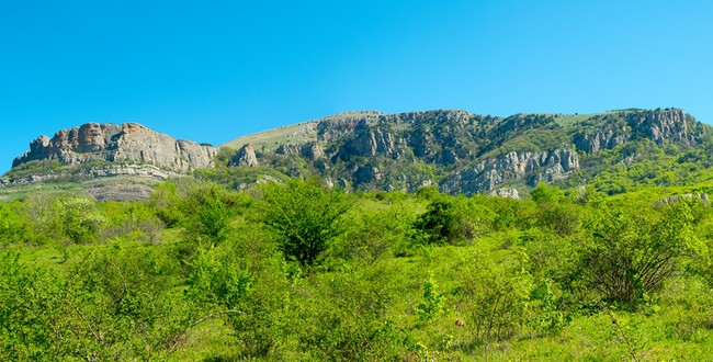 Крым. Summer mountain landscape in Crimea. Фото toxawww - Depositphotos