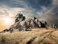 Крым. Road to the Valley of Ghosts. Фото Givaga - Depositphotos