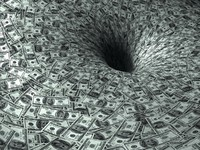Dollar flow in black hole. Фото mike_kiev - Depositphotos