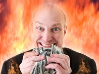 Avarice deadly sin of greed dollars. Фото Tracy Nors - Depositphotos