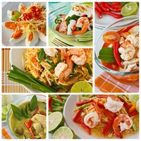 Клуб Павла Аксенова. Мальдивы. Collage from Photographs of thai food. Фото Piyachok - Depositphotos