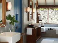 Мальдивы. Four Seasons Resort Maldives at Landaa Giraavaru. Beach bungalow with pool