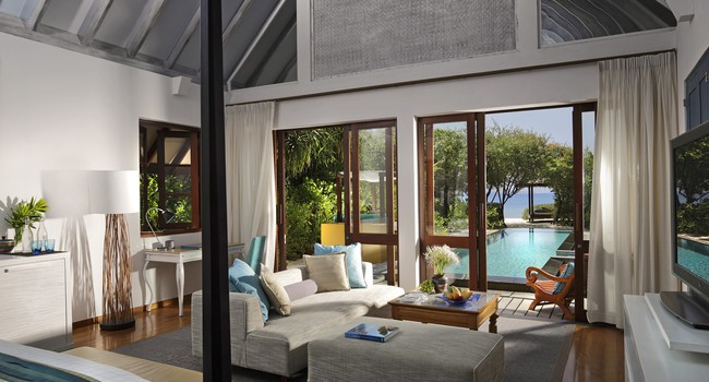 Мальдивы. Four Seasons Resort Maldives at Landaa Giraavaru. Beach villa with pool