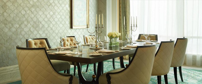 The St. Regis Abu Dhabi. Al Manhal Suite - Dining Room