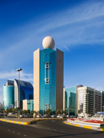 Abu Dhabi is graced by many beautiful buildings especially along the Corniche. Фото  Sophie_James - Depositphotos