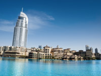 ОАЭ. Дубай. The Address Hotel, Downtown Dubai - UAE. Фото Engin Korkmaz - Depositphotos