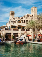 ОАЭ. Дубай. Madinat Jumeirah. Views of Madinat Jumeirah hotel. Фото Observer - Depositphotos