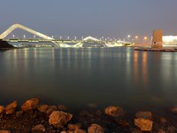 ОАЭ. Абу-Даби. Sheikh Zayed Bridge at night, Abu Dhabi. Фото Philip Lange - Depositphotos
