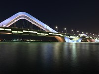 ОАЭ. Абу-Даби. Sheikh Zayed Bridge at night, Abu Dhab. Фото philipus - Depositphotos