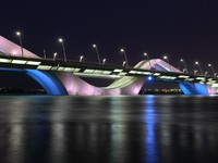 ОАЭ. Абу-Даби. Sheikh Zayed Bridge at night, Abu Dhabi. Фото philipus - Depositphotos