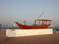 ОАЭ. Абу-Даби. Traditional arabic wooden dhow boat in Abu Dhabi, UAE. Фото Philip Lange - Depositphotos