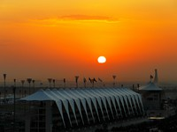 ОАЭ. Абу-Даби. Sunrise over Yas Island Abu Dhabi. Фото Sophie_James - Depositphotos