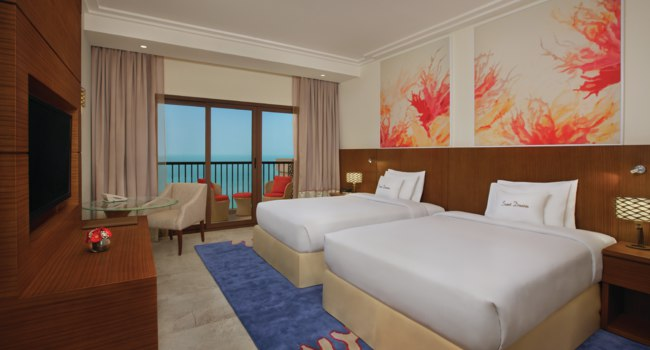 Клуб путешествий Павла Аксенова. ОАЭ. Рас-эль-Хайма. Double Tree Marjan Island - Twin Guest room sea view