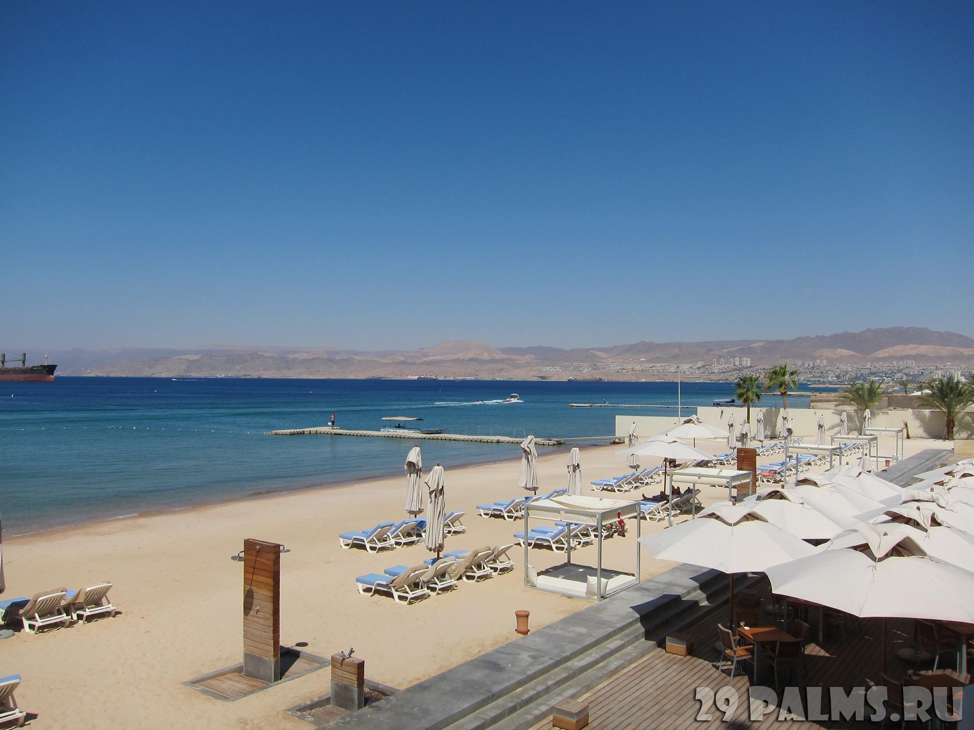 Иордания фото пляжа туристов