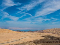 Иордания. kings way desert road dead sea jordan. Фото STYLEPICS - Depositphotos