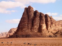 Иордания. 	Scenic view of canyon in Wadi Rum, Jordan - Depositphotos