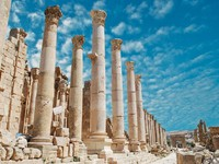 Иордания. Ancient Jerash. Ruins of the Greco-Roman city of Gera at Jordan . waj197 - Depositphotos