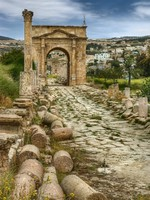 Иордания. Ancient Jerash ruins, Jordan. Фото photomaru - Depositphotos