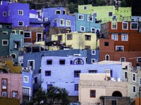 View of colorful houses of the Spanish colonial highland town of Guanajuato, Mexico. Фото Robert Crum - Depositphotos