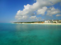 Playa del Carmen beach in Mexico and the Caribbean ocean. Фото Brian Burton Arsenault - Depositphotos